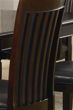 Split-Bracket Back of Chairs