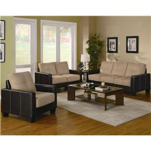 Coaster Regatta Contemporary 3-Piece Living Room Set