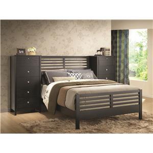 Coaster Richmond Eastern King Black Slat Bed