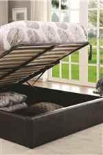 Storage Space Inside Lift Top Bed Frame