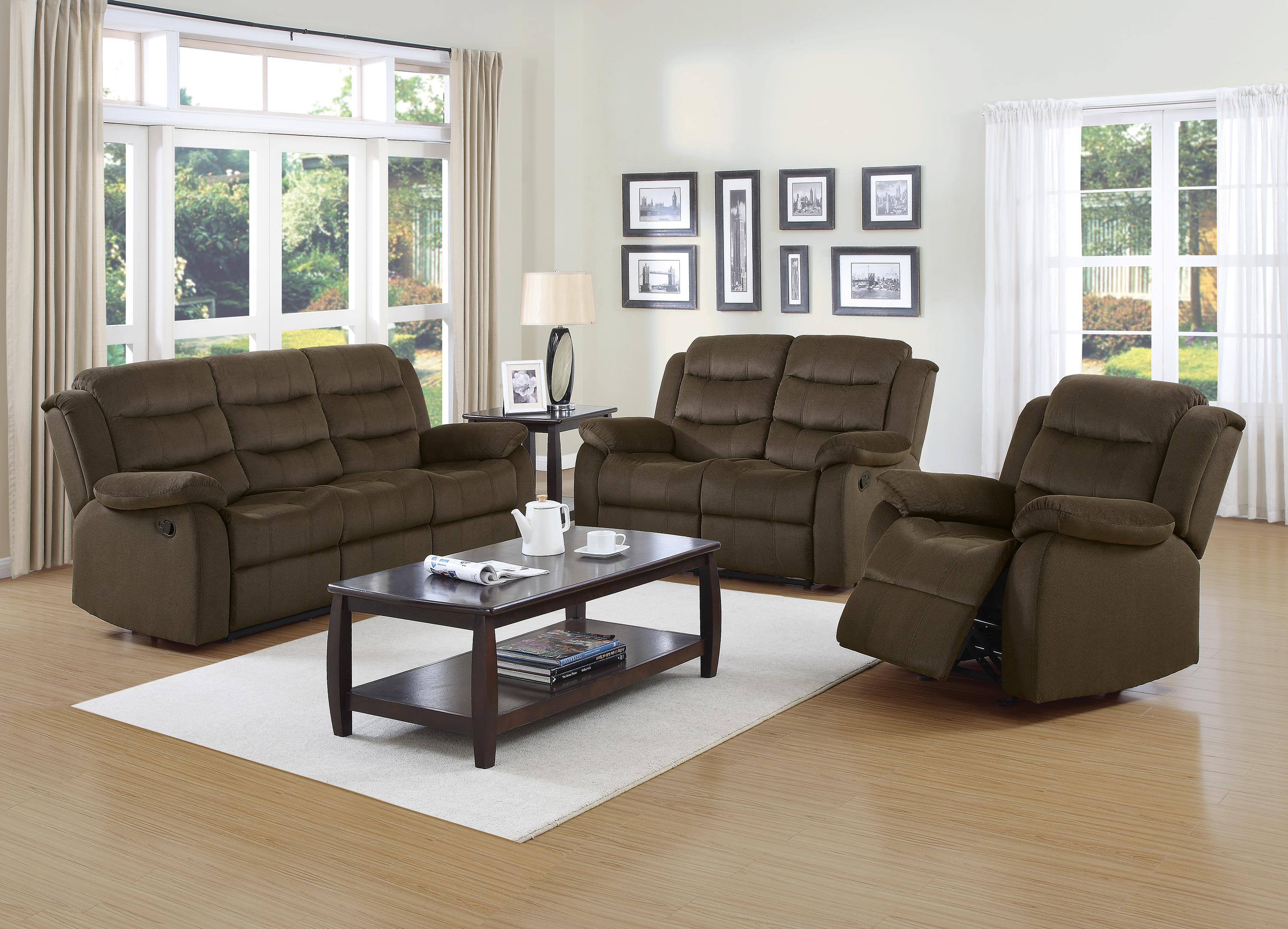Coaster Rodman Casual Motion Sofa with Pillow Arms Value City