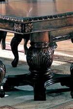 Double Pedestal Table Offers Traditional Designs with Classic Carved Detail