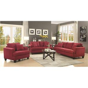 Coaster Samuel Sofa Sofa with Tufted Cushions