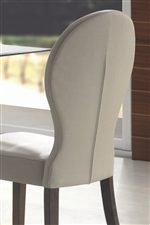 Shapely Upholstered Chair Backs