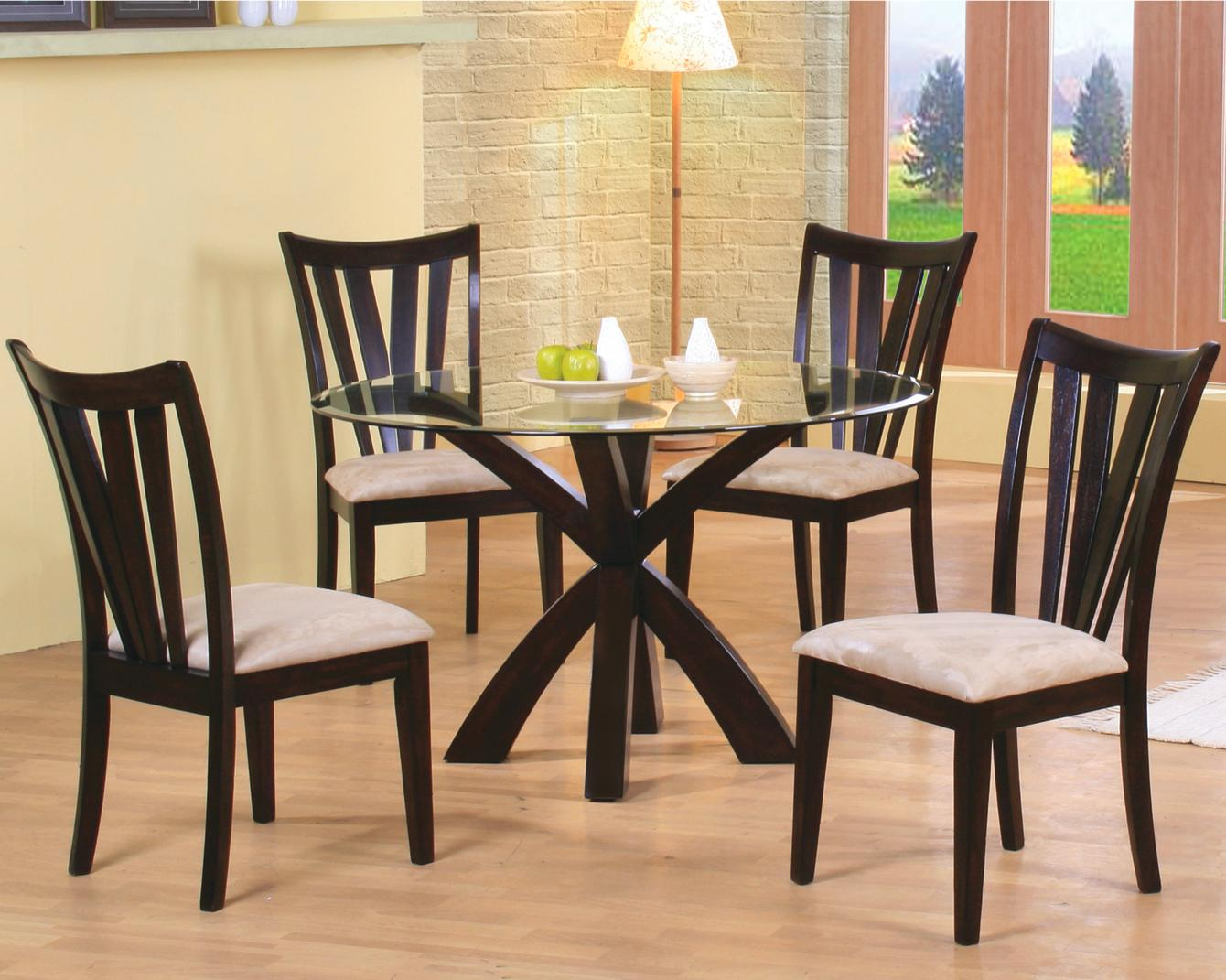 Coaster Shoemaker 5 Piece Dining Set   Item Number: 101071+CB48RD+4x101072