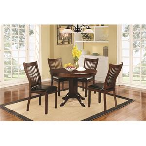 Coaster Sierra Rectangular Dining Table with Block Legs