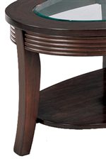 Delicately Carved Sides and Sophisticated Flared Legs