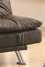 Chrome Legs bring Contemporary Style to this Pillow Padded Collection