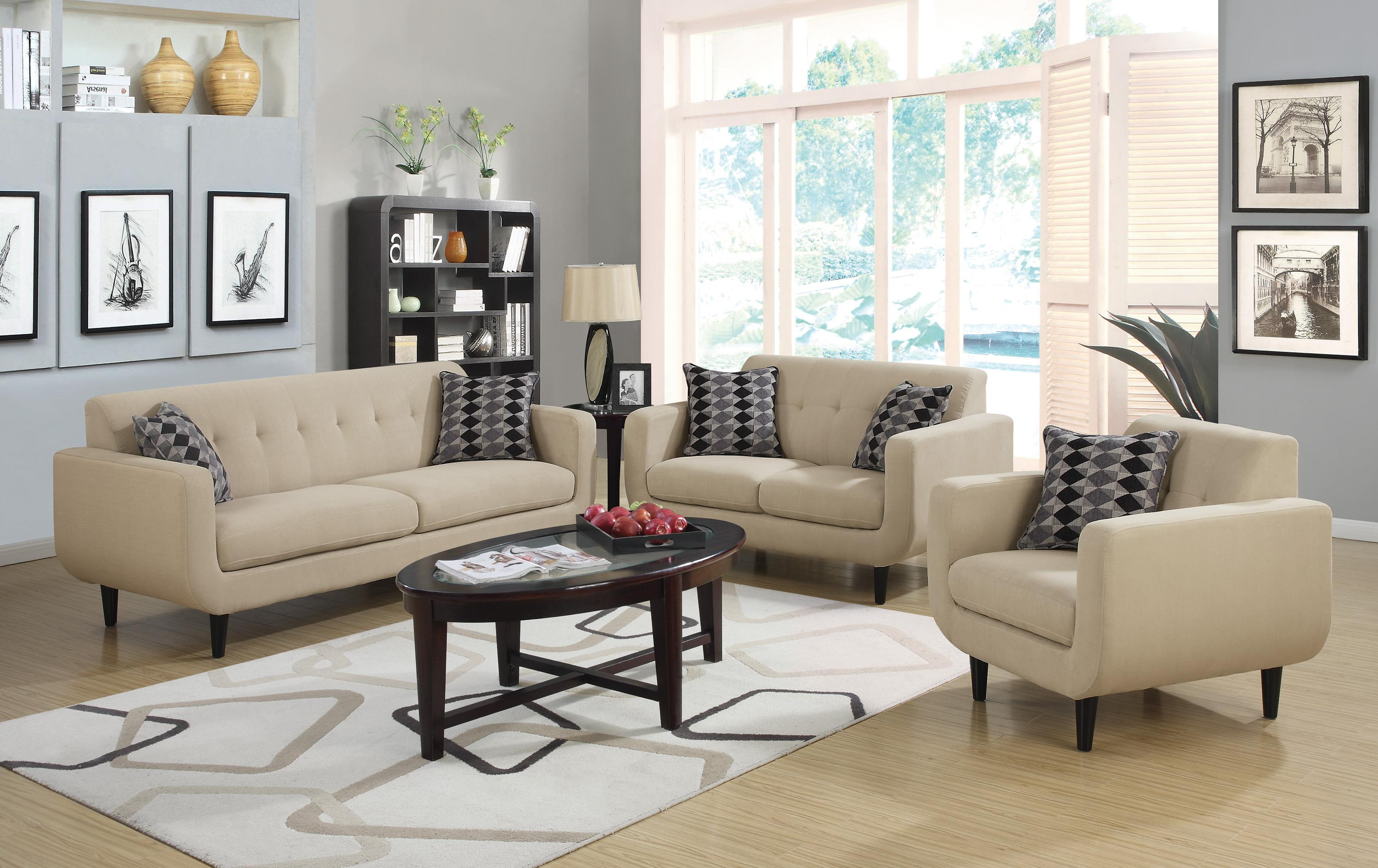 Coaster Stansall Stationary Living Room Group - Item Number: 505200 Living Room Group 2
