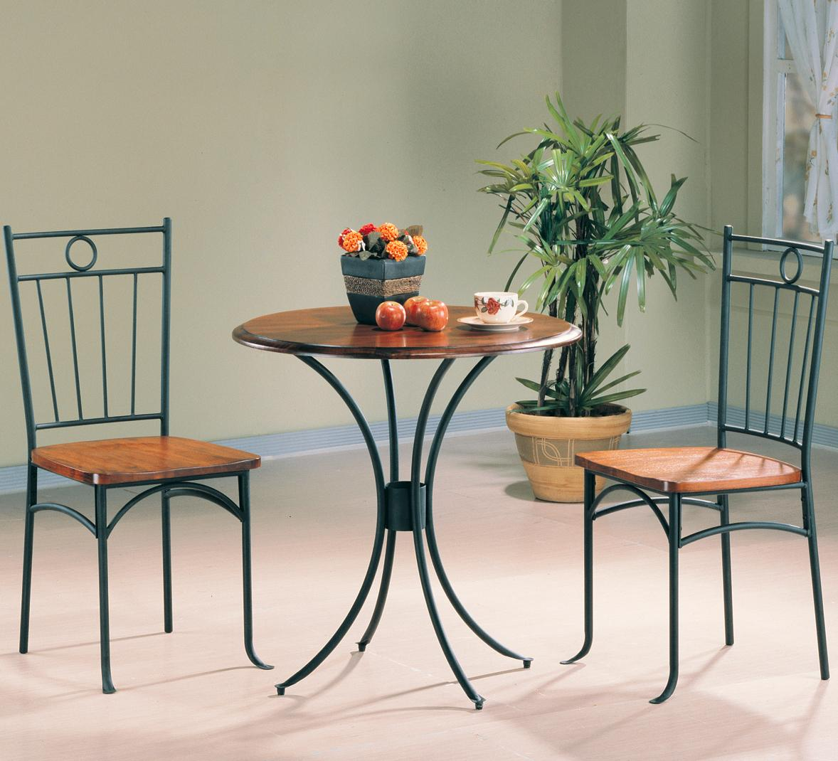 Coaster Tamiami 3 Piece Bistro Dining Set   Value City Furniture   Dining 3  Piece Sets