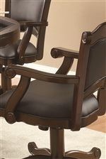 Elegant Scrolled Arm Chair with Soft Fabric Back and Seat