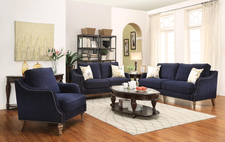 Coaster Vessot Stationary Living Room Group - Item Number: 50579 Living Room Group 1
