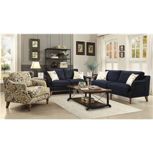 Coaster Vessot Transitional Chair with Nailhead Studs and Feather Cushion