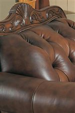 Elaborate Moulding Frames Button Tufted Seat Backs