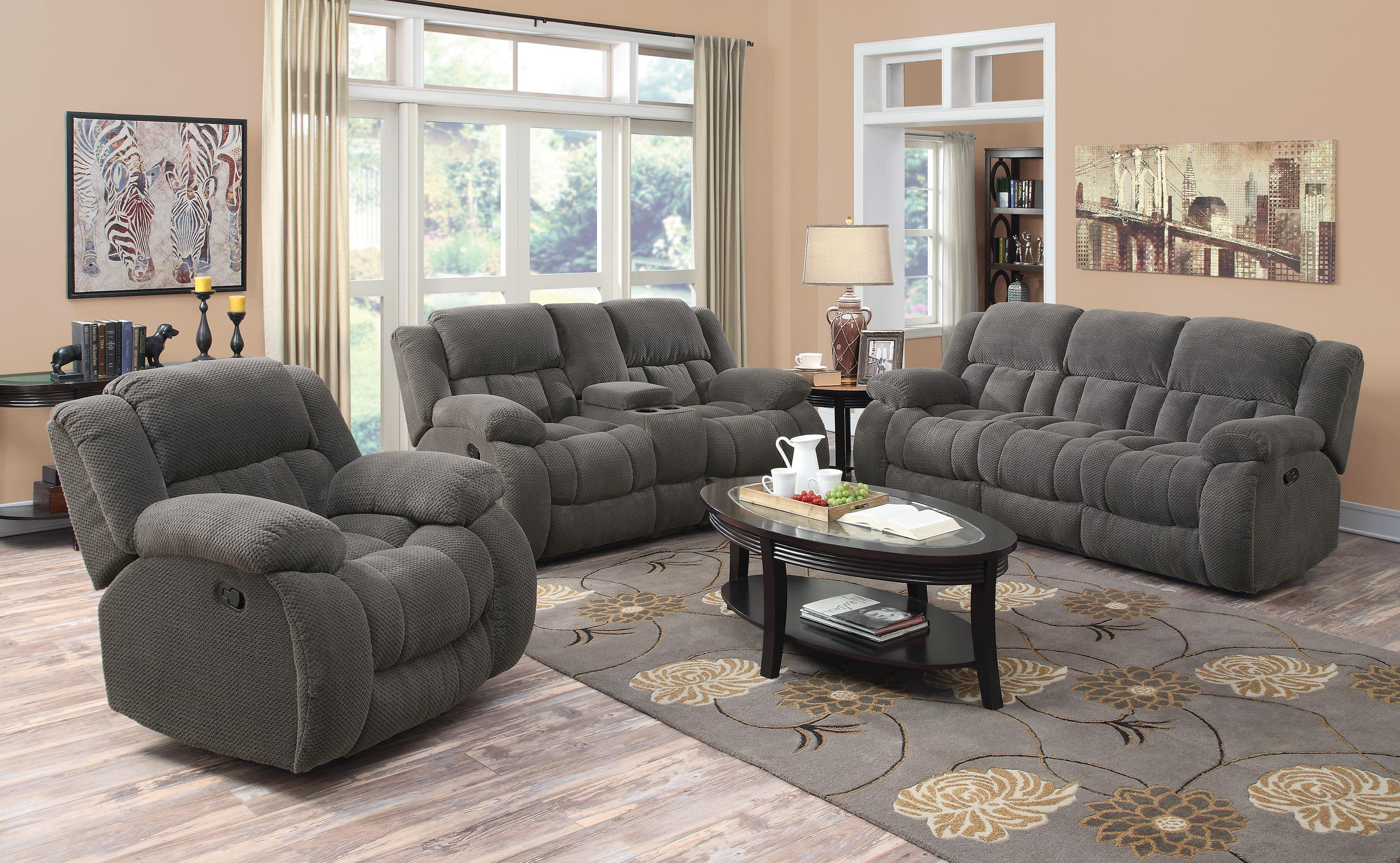 Coaster Weissman Reclining Living Room Group - Item Number: 60192 Living Room Group 1