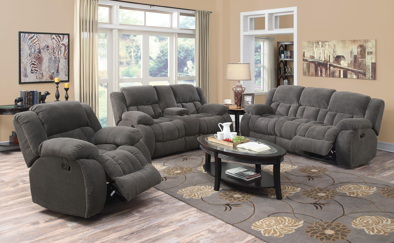 Coaster Weissman Casual Pillow Padded Reclining Sofa Coaster