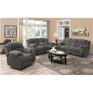 Coaster Weissman Reclining Living Room Group