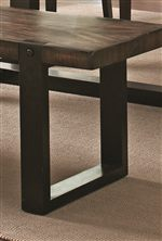 Two-tone Rustic Brown and Black Finishes