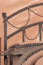 Rustic Metal Frame Accented with Romantic Twisted Rope Detail
