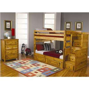 Coaster Wrangle Hill Twin Over Twin Loft Bed with Built-In Desk