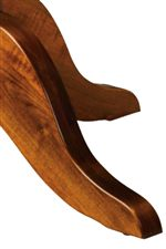 Four Splayed Legs Provide Table Base Support