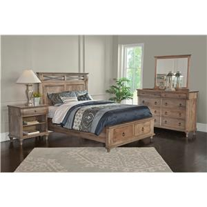 Conrad Grebel Madison Queen Bed with Metal X Motif