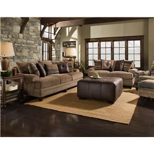 Corinthian 23A0 Large Three Cushion Herringbone Sofa