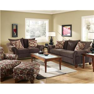 Corinthian 2820 Cebu/Evo Copper Loveseat