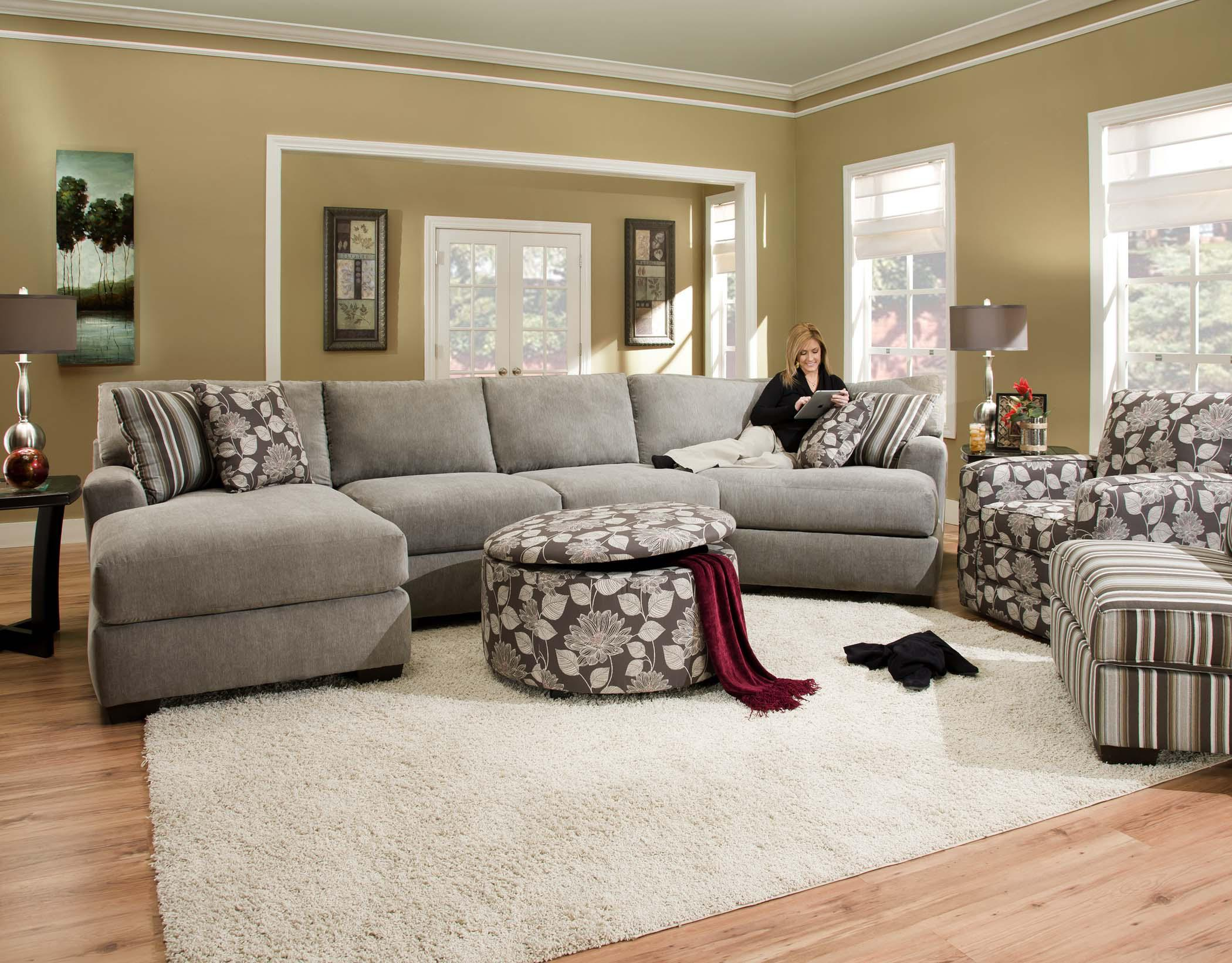 Corinthian 29A0 Sectional Sofa with 4 Seats | Standard Furniture ...
