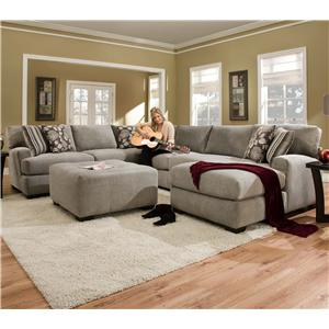 Corinthian 29A0 Sectional Sofa with 5+ Seats (1 is a Chaise) : corinthian sectional sofa - Sectionals, Sofas & Couches