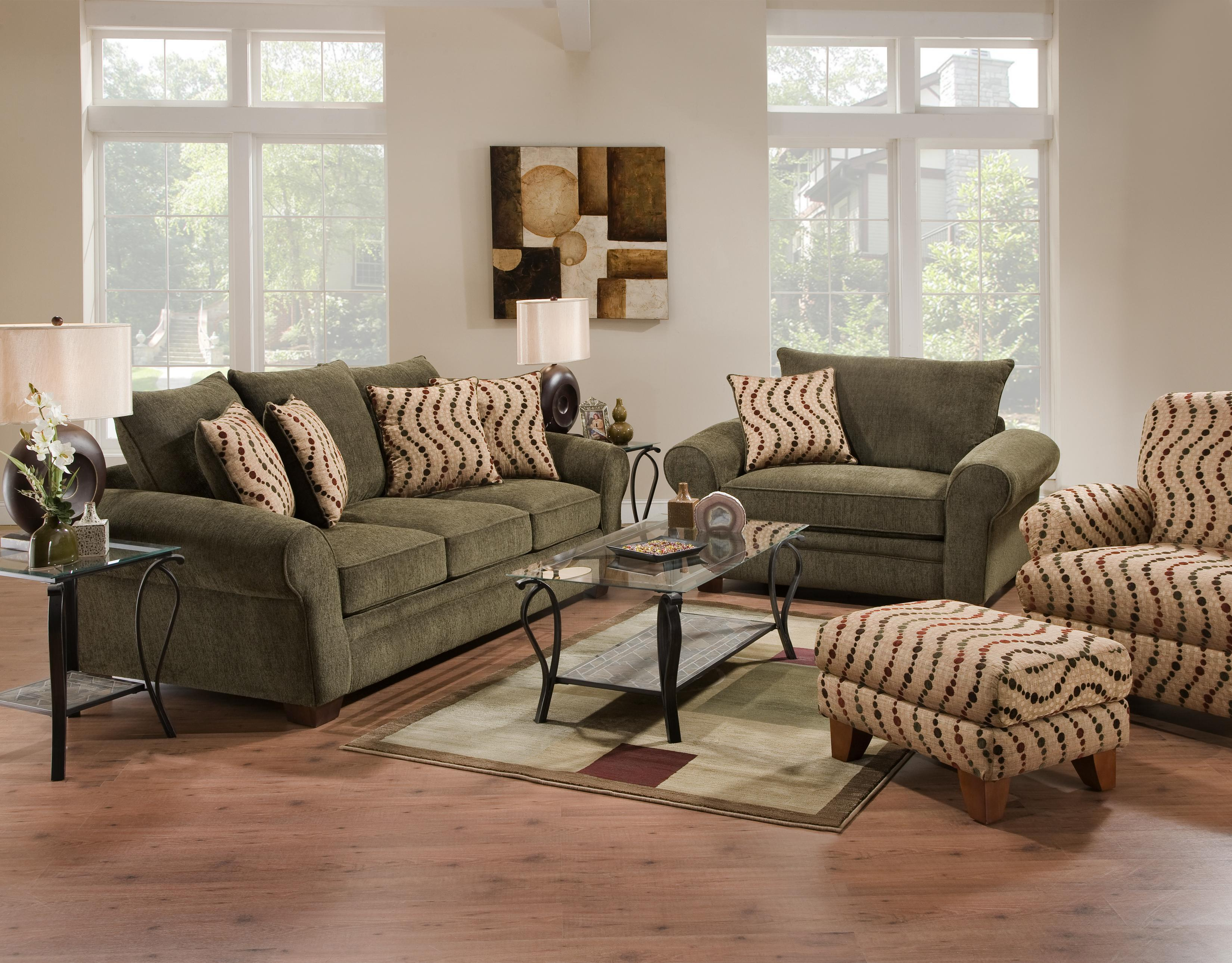 Corinthian 5400 Attractive Accent Chair Ottoman With Smooth Simplistic Look In Casual Contemporary Style Furniturewebsite