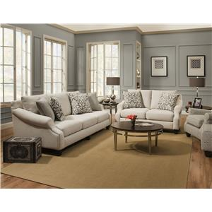 Corinthian Lavish Cream Lavish Cream Sofa & Loveseat