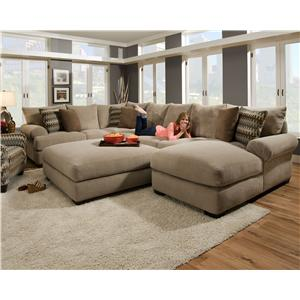 Etonnant Corinthian 61A0 Sectional Sofa With Right Side Chaise