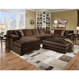 Corinthian 6500 6 Seat Sectional Sofa with Sleeper