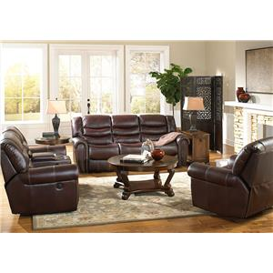 Corinthian 655 Motion Group Recline Console Loveseat with Traditional Style