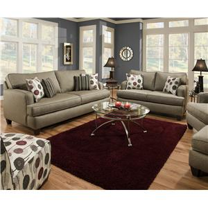 Corinthian 6600 Armless Accent Chair in Contemporary Living Room Style