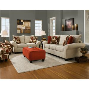 Corinthian 65A0 Stationary Living Room Group