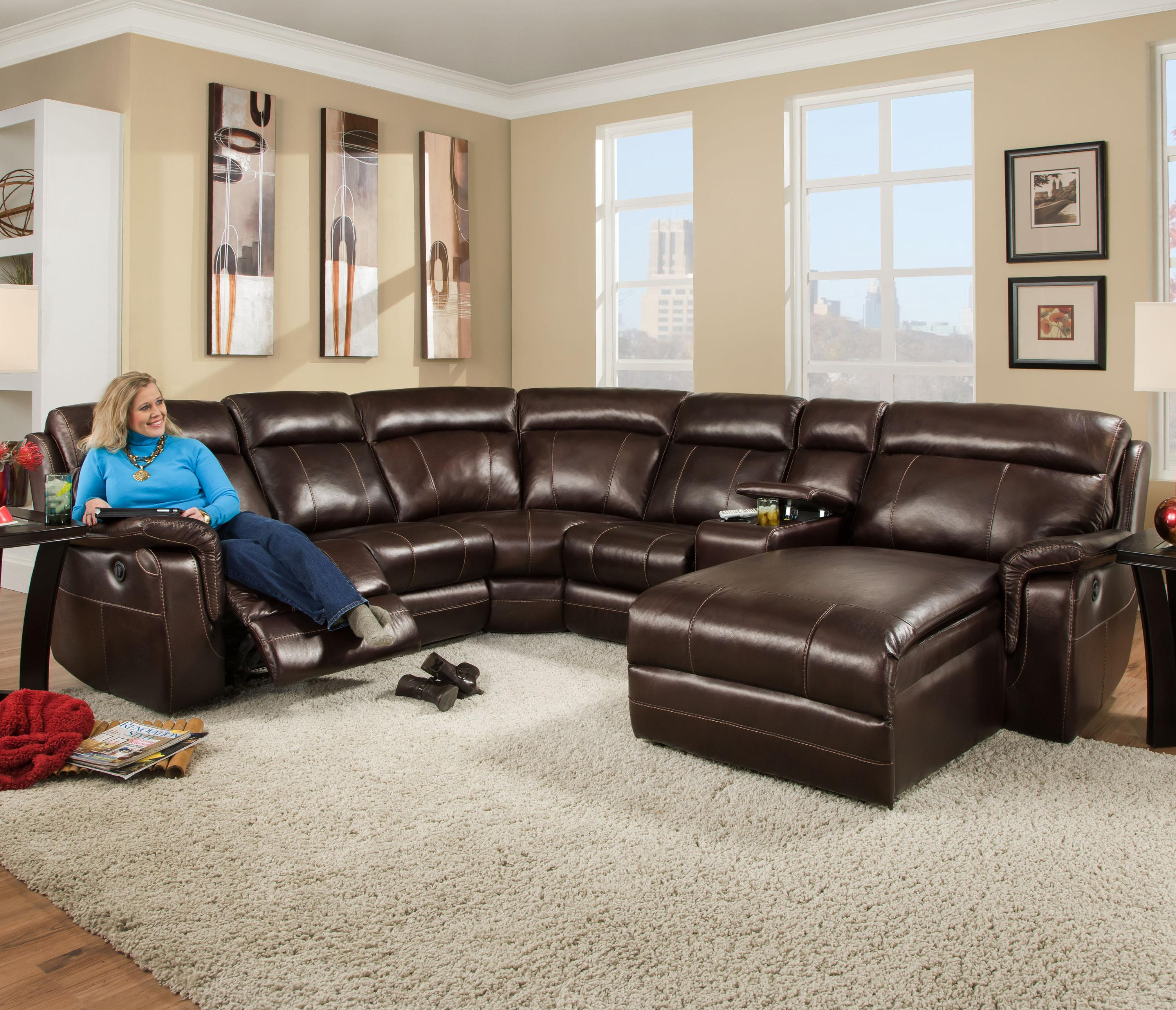 Corinthian 862 Sectional Sofa With 5