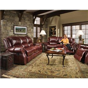 Corinthian 99901 Reclining Console Loveseat with Traditional Style