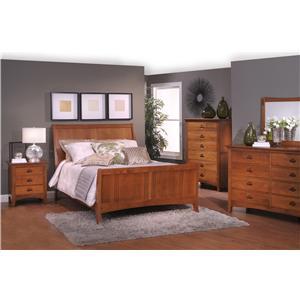 California King Sleigh Bedroom Group 4