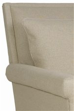 Bold Upholstered Hard Backs Merge with Plush Pillowed Throw Accents