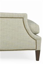 Sloped Track Chair Arm with Nailhead Trim
