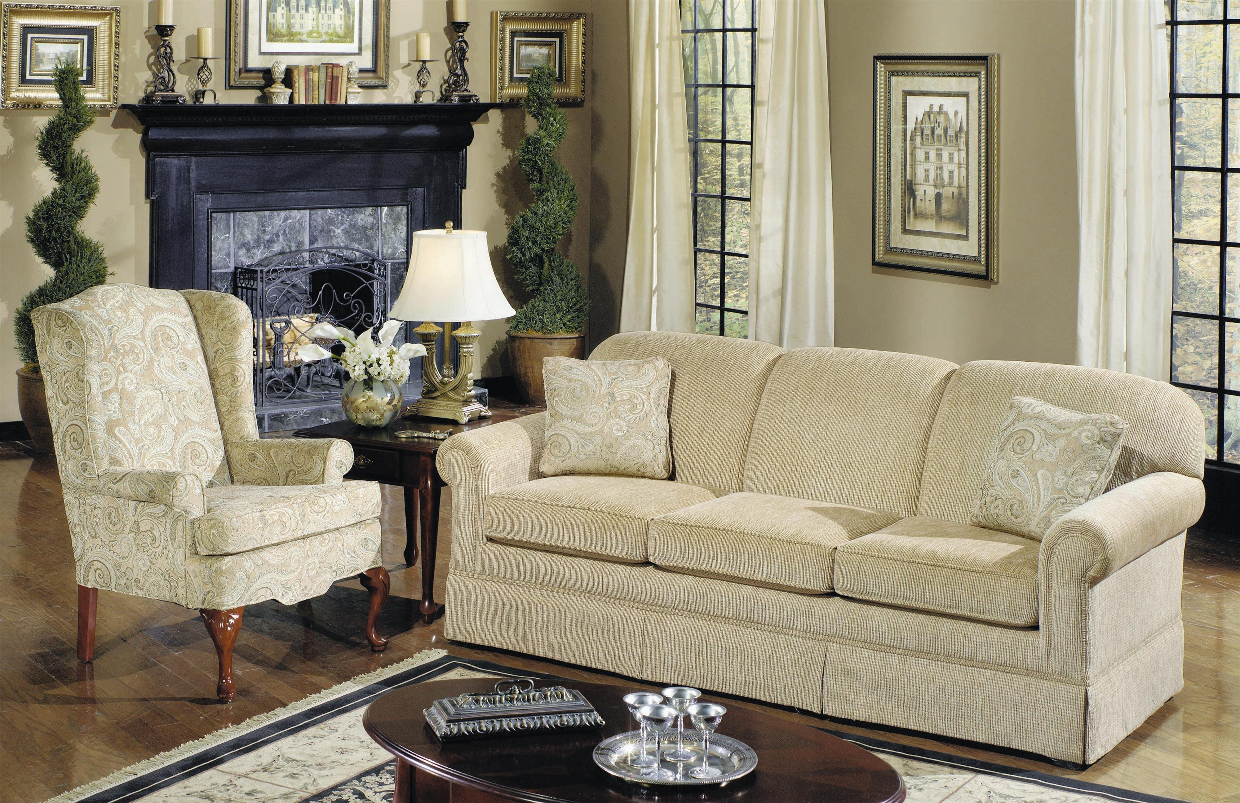 4200 Stationary Living Room Group by Craftmaster at Turk Furniture