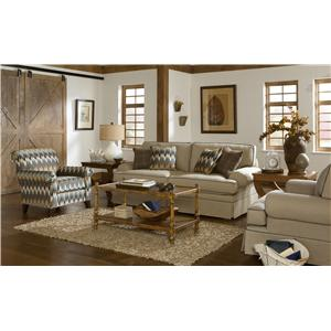 Craftmaster 4550 Stationary Living Room Group w/ Sleeper