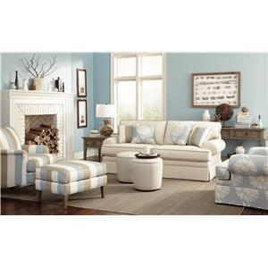 Craftmaster 4550 Stationary Living Room Group with Sleeper
