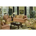 Craftmaster 4550 Stationary Living Room Group w/ Sleeper - Item Number: 4550 Living Room Group 3
