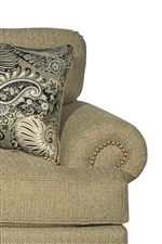 Tall, Plush Back Cushions and Rolled Arms with Nailhead Trim