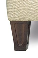 Tapered Wood Block Legs with Beveled Edges