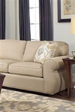 Gently Rolled Panel Arm and Boxed-Edged Cushions Create a Classic Style You'll Love to Show Off