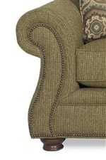 Dress Up a Casual Living Room with Traditional Rolled Arms and Nailhead Trim